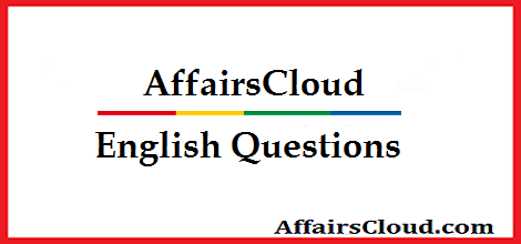English Questions and Answers for Bank, SSC, Insurance
