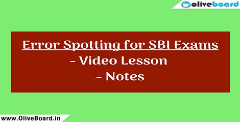 SBI-2018-Error-Spotting oliveboard