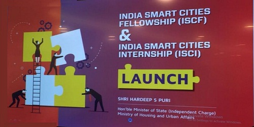 5 initiatives launched under AMRUT and Smart Cities Mission by the Minister of State (ic) of Housing and Urban Affairs Shri Hardeep Singh Puri