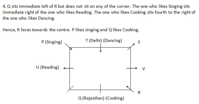 IBPS PO 2018 reasoning prelim test day 5 Q 4(1-5)