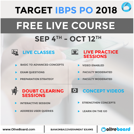 Target IBPS PO 2018 Free Live Course