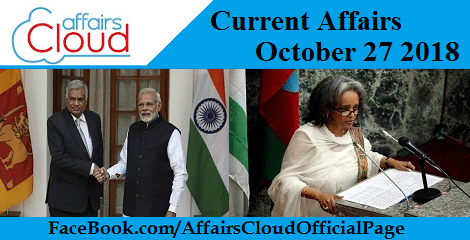 Current Affairs October 27 2018