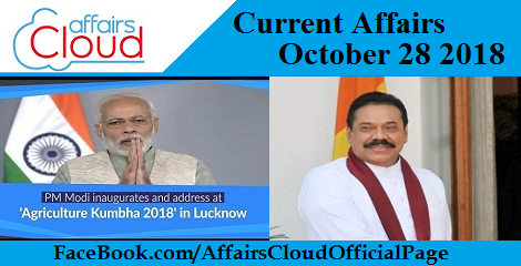 Current Affairs October 28 2018