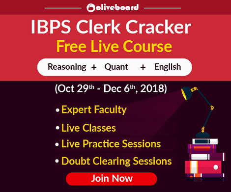 IBPS Clerk Cracker Live Course Oliveboard