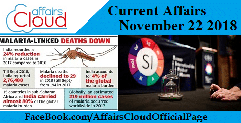 Current Affairs November 22 2018
