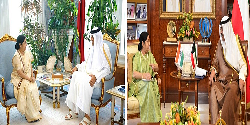 Overview of External Affairs Minister Sushma Swaraj's 4-day visit to Qatar, Kuwait