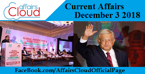 Current Affairs December 3 2018