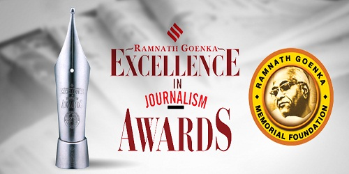 Home Minister Rajnath Singh presented Ramnath Goenka Excellence in Journalism AwardsHome Minister Rajnath Singh presented Ramnath Goenka Excellence in Journalism Awards