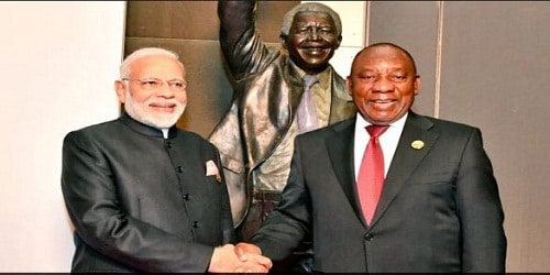 South African President Cyril Ramaphosa's 2 day visit to IndiaSouth African President Cyril Ramaphosa's 2 day visit to India