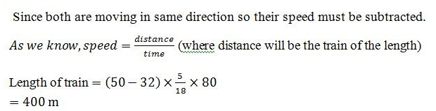 Time and Distance Q8