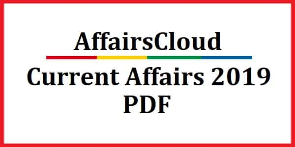 Current Affairs 2019 PDF