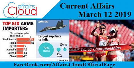 Current Affairs March 12 2019