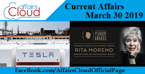 Current Affairs March 30 2019