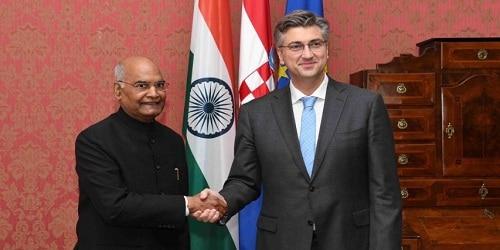 President Ram Nath Kovind Visit to Croatia