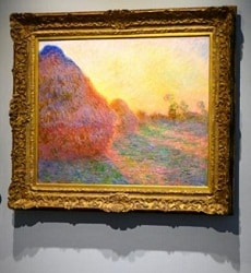 Claude Monet's 1890 work 'Mueles' painting