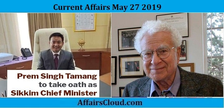 Current Affairs May 27 2019