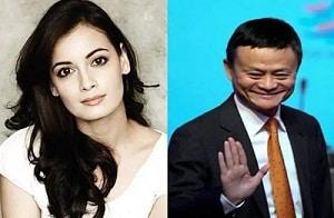 Dia Mirza and Jack Ma