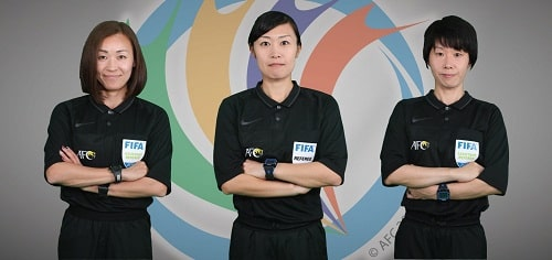 Female referee team