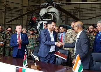 India delivered 2 Mi-24 helicopters to Afghanistan