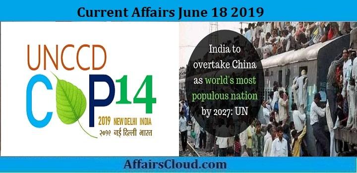 Current Affairs June 17 2019