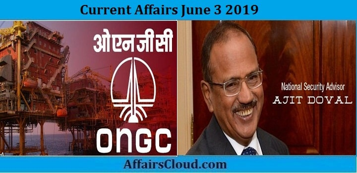 Current Affairs June 3 2019