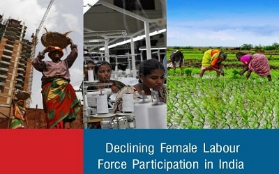 female labour force declined in India