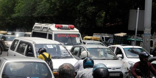fine people with Rs 10,000 for blocking ambulances
