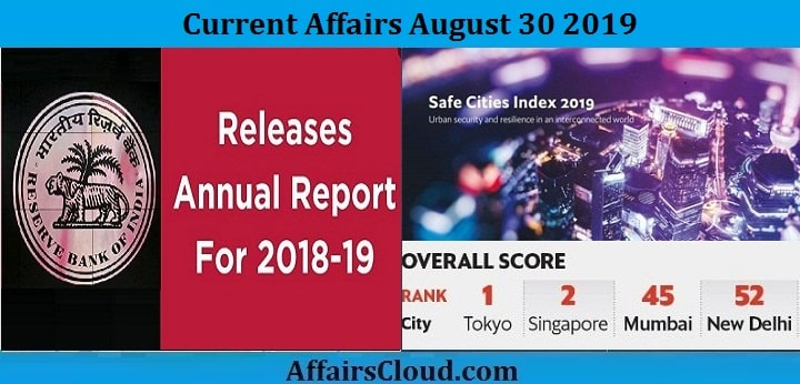 Current Affairs August 30 2019