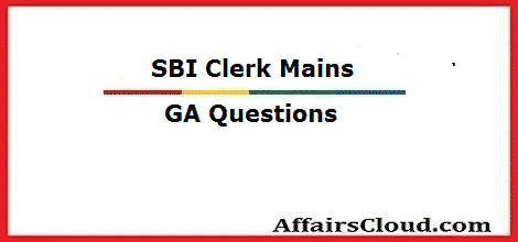sbi-clerk-ga-questions