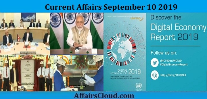 Current Affairs September 10 2019