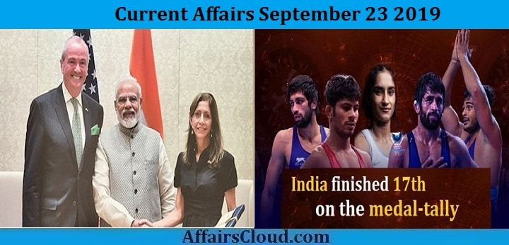 Current Affairs September 23 2019