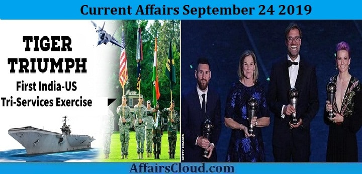 Current Affairs September 24 2019