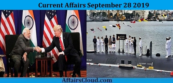 Current Affairs September 28 2019