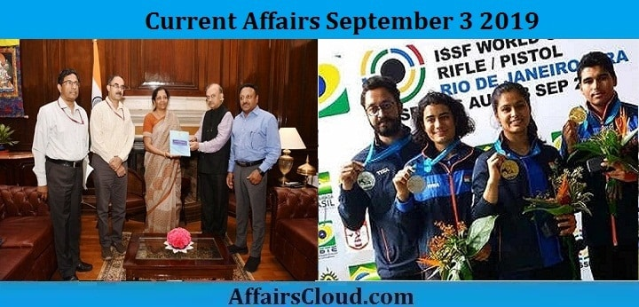 Current Affairs September 3 2019