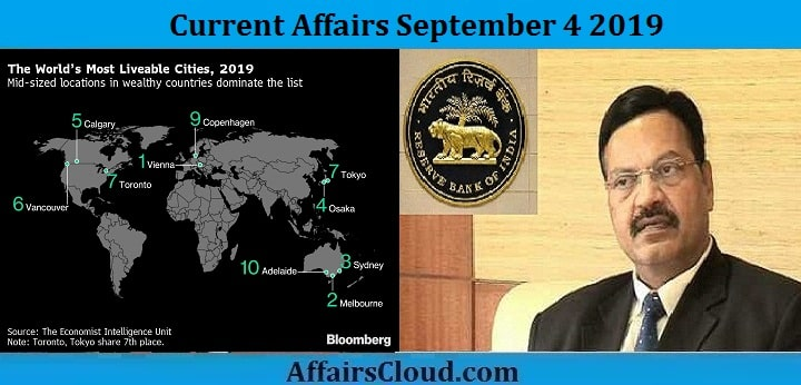 Current Affairs September 4 2019
