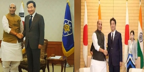 Defence Minister Rajnath Singh's visit to Japan and South Korea