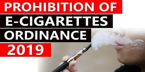 Prohibition of Electronic Cigarettes Ordinance, 2019