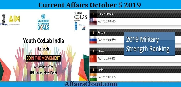 Current Affairs October 5 2019