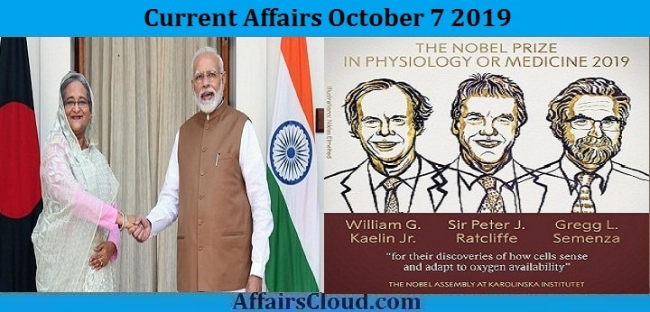 Current Affairs October 7 2019