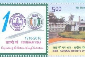 Harsh Vardhanlaunched postal stamp of Hyderabad's National Institute of Nutrition