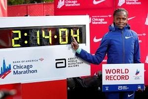Kenyan marathon runner Brigid kosgei