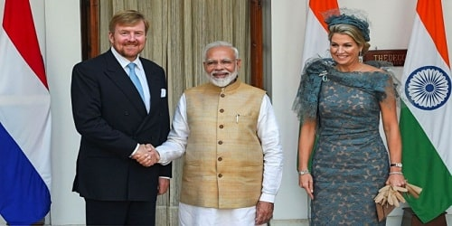 King and Queen of the Netherlands to India