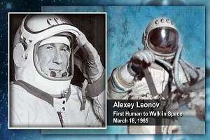 Leonov, the first human to walk in space