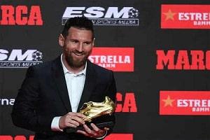 Lionel Messi wins third straight Golden Shoe