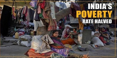 Poverty rate halves in India after 1990s