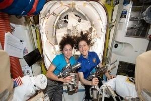 US astronauts Christina koch and Jessica meir