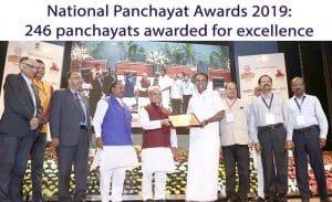 panchayat award 2019