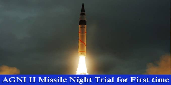 Agni II night trial