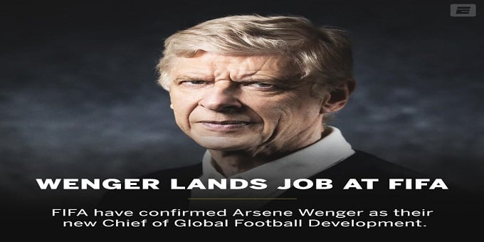 Arsene Wenger as chief of Global football development