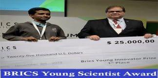 BRICS young Scientist Award